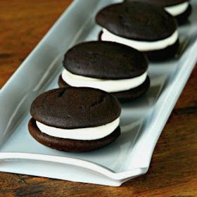 my fair baking: classic whoopie pies. THE classic whoopie pies..  Bruce taught me how to make these...likes to make at Christmas