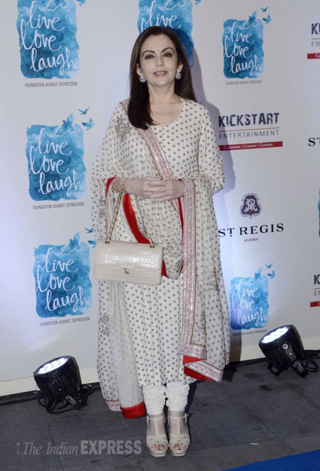 Nita Ambani at the launch of Deepika Padukone' NGO 'Live Love and Laugh'. #Page3 #Fashion #Style #Beauty #Desi