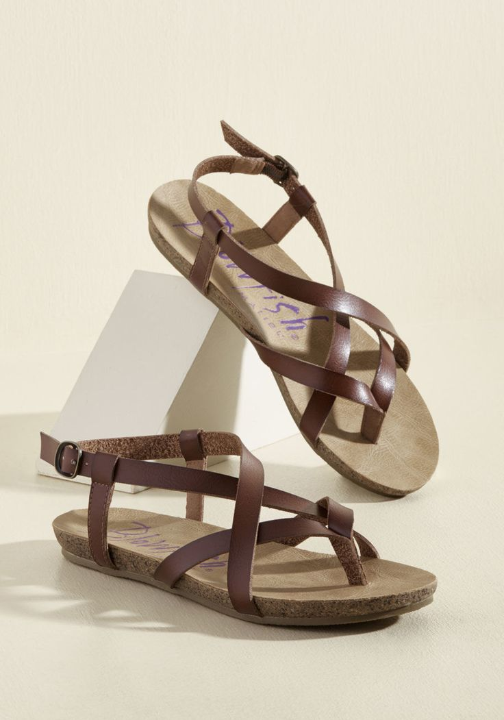 Everyday Nonchalance Sandal in Brown