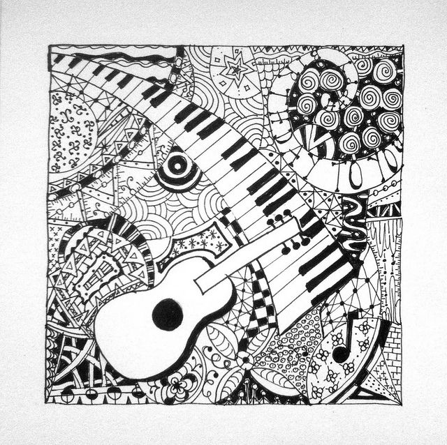 Musical Zentangle   Flickr - Photo Sharing!