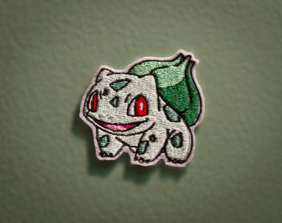 Bulbasaur  Embroidered Ironon Pokemon Patch by OKsmalls on Etsy, $8.00