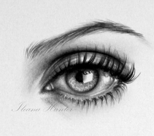 The unicorn girl detail - Realistic Pencil Drawings by Ileana Hunter | Art and Design