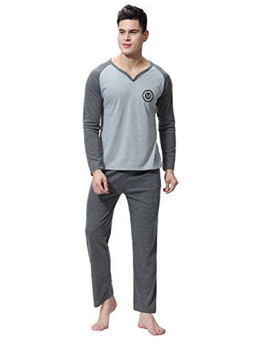 Aibrou Pyjama Homme Hiver Coton Ensemble Pyjamas Chauds Homme Manche Longue Col Rond Ensemble de Literie Deux Parties #Aibrou #Pyjama #Homme #Hiver #Coton #Ensemble #Pyjamas #Chauds #Manche #Longue #Rond #Literie #Deux #Parties
