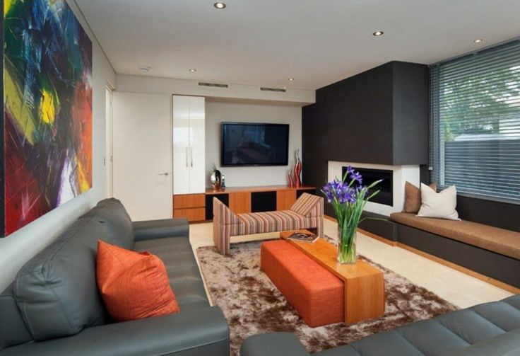 25 best ideas about orange living rooms on pinterest for Harmonie couleur salon