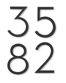 Neutra House Numbers attach to background board/color