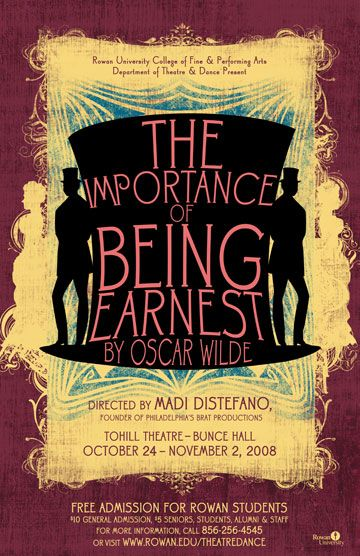28 best images about The Importance of Being Earnest Poster on ...