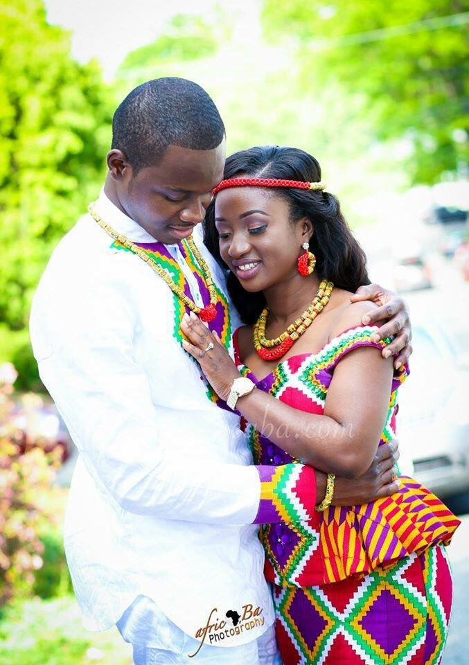 Ghanian traditional marriage wear!