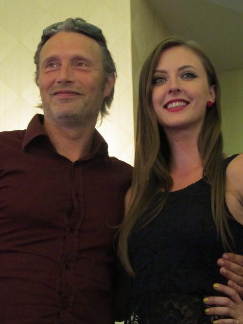 Mads Mikkelsen and Katharine Isabelle
