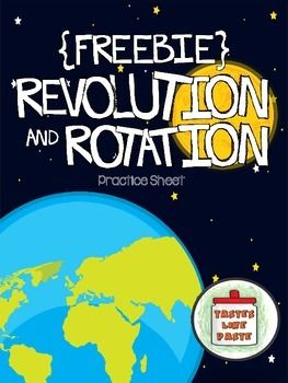 This practice sheet is a quick-check review of Earth's revolution and rotation. The sheet has multiple choice questions and a color-by-answer to sort revolution and rotation statements.