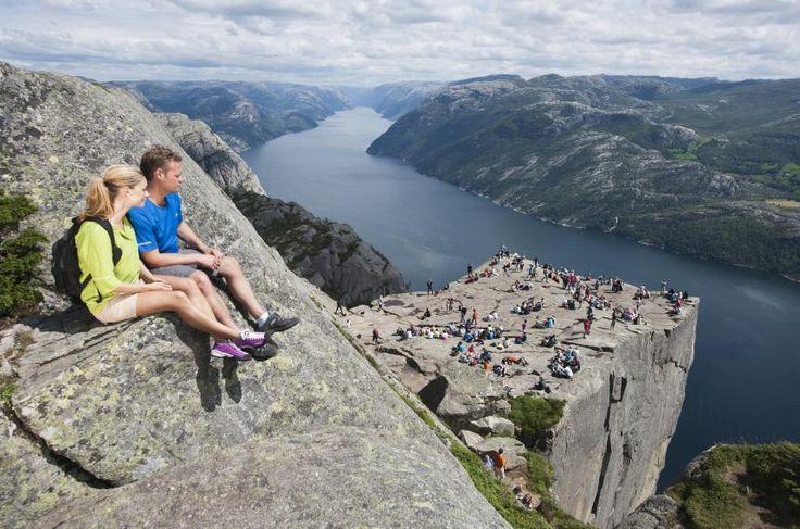 Preikestolen am Lysefjord: Auf der anderen Fjord-Seite liegt Fossmork