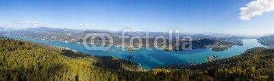 #Autumn #Panorama View From #Pyramidenkogel Tower To Lake #Woerthersee #ktr14 @Fotolia #Fotolia @carinzia #carinthia #austria #landscape #nature #hires #portfolio #stock #photo #new #download