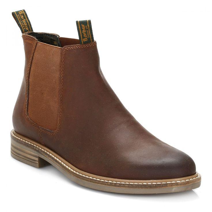 Barbour Mens Dark Tan Farsley Chelsea Boots