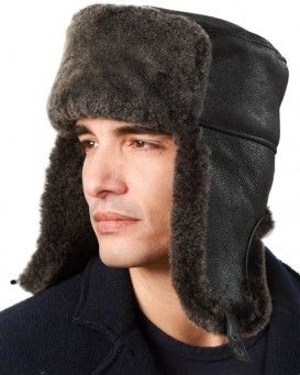 Negro de piel de oveja de piel de oveja Snowtop rusa Sombrero