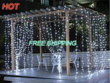 Gratis Verzending Outdoor Waterdichte 3*3 m 300led LED Gordijn Ijspegel String Licht led licht verlichting Bruiloft Kerst Vakantie venster