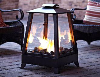 Outdoor fire lantern