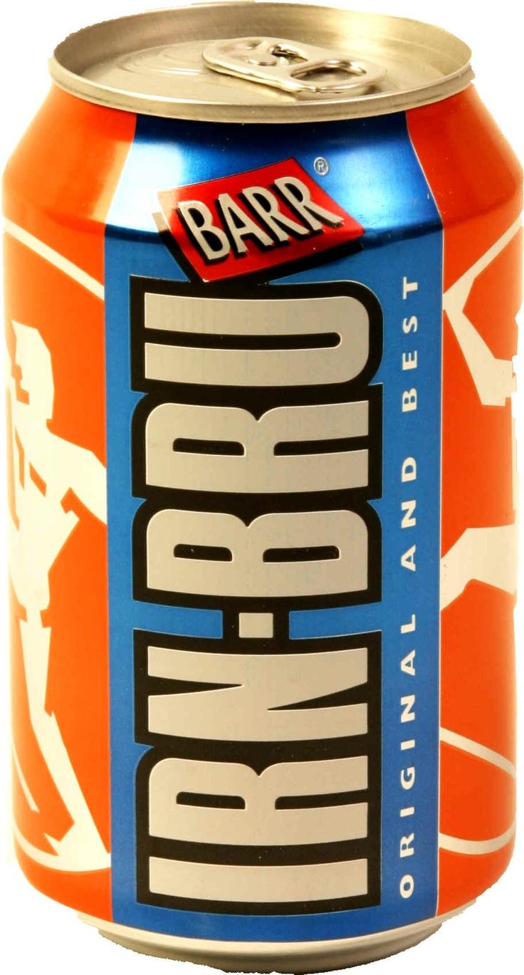 Irn Bru... beautiful Scottish drink. Made from girders.