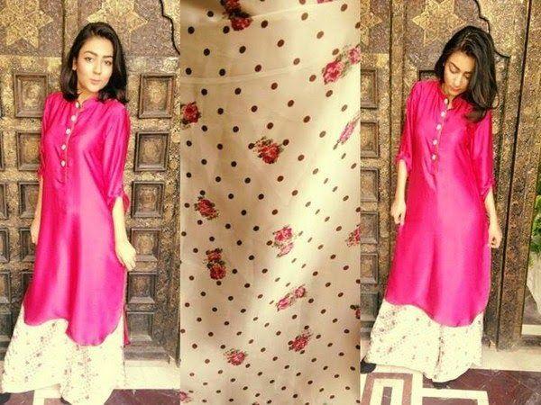 Красивые индийские платья и длинные рубашки, модные в 2014 году