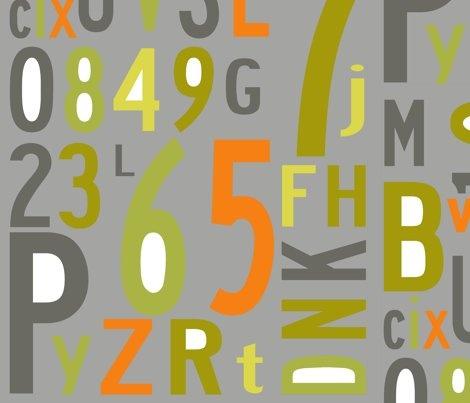 alphabet_multi wallpaper by holli_zollinger for sale on Spoonflower - custom wallpaper