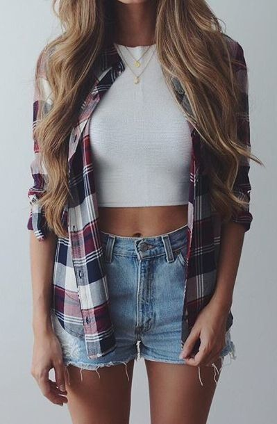 30 Awesome Ways To Wear Plaids In Summer Outfits