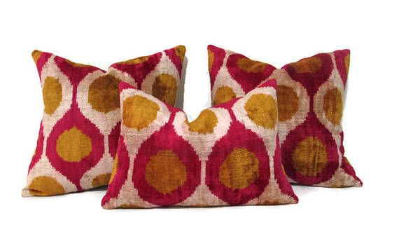 Mustard Ikat Pillow Red Ikat Pillow Mustard Ikat Pillow
