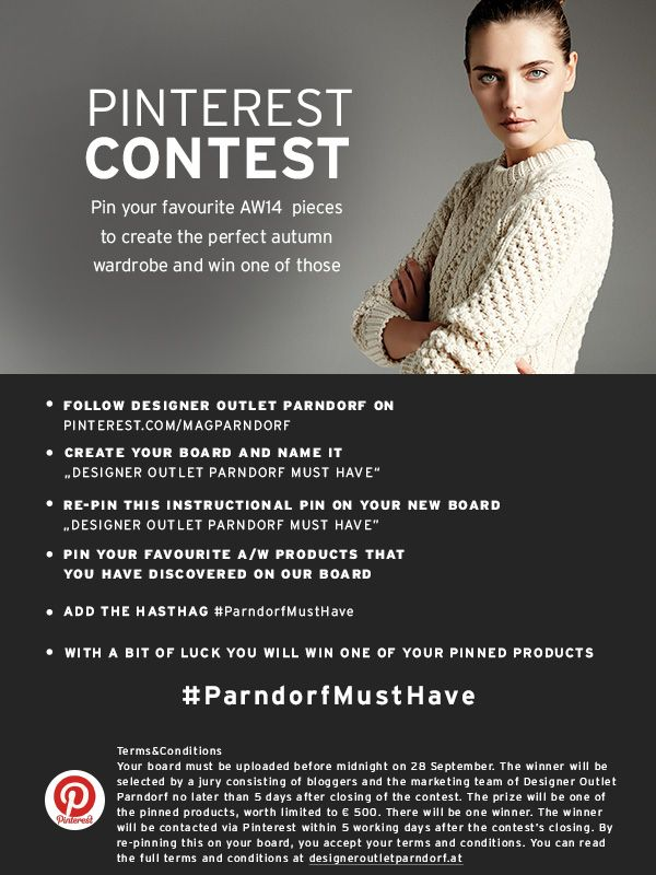 Pin your favourite autumn pieces of our brand new collections and win one of those designer it-pieces #ParndorfMustHave