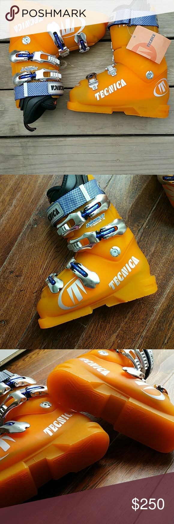 TECNICA SKI BOOTS  NWT. This is a brand new pair of Tecnica Diablo Race R boots made in Italy selling at a low price but will go up in the fall so get them now! Tecnica Shoes Rain & Snow Boots