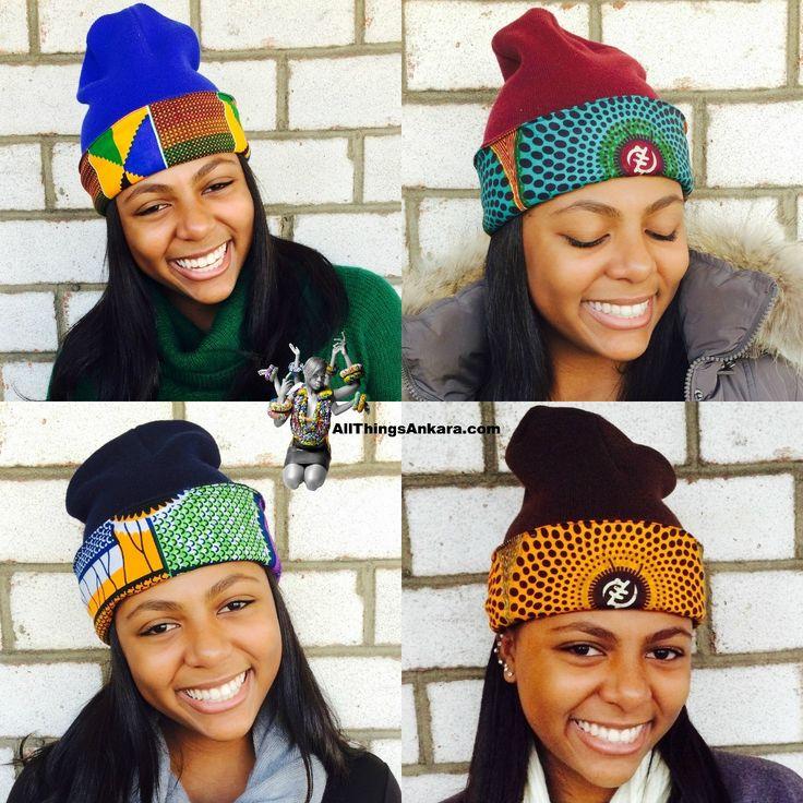 Winter Accessories: DpiperTwins Ankara Print Beanies ~African fashion, Ankara, kitenge, African women dresses, African prints, African men's fashion, Nigerian style, Ghanaian fashion ~DKK