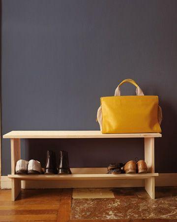 DIY Schuhregal und Sitzbank