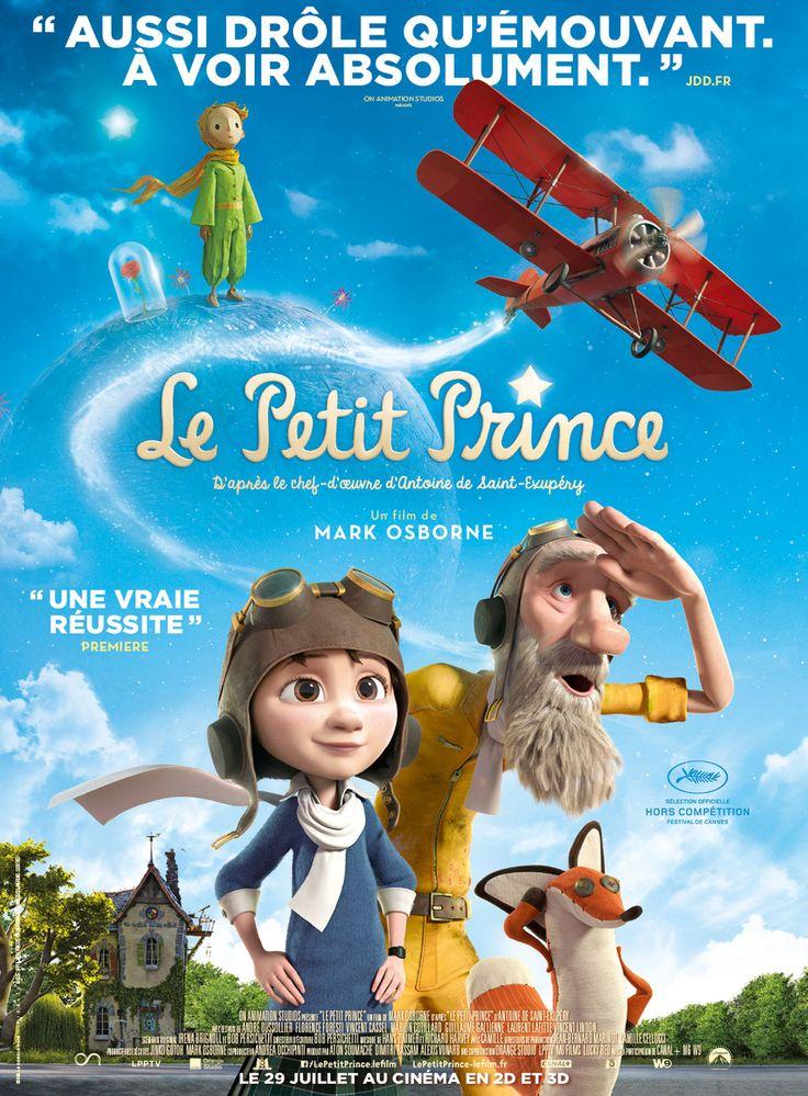 Affiche Le Petit Prince. Mijn kinderen hebben deze mooie film in de bioscoop gezien. Ik wil hem ook nog zien.