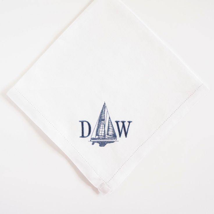 Men S Irish Linen Hemsched Handkerchief With Yacht Design Perfect For Christmas Gifts And Weddings