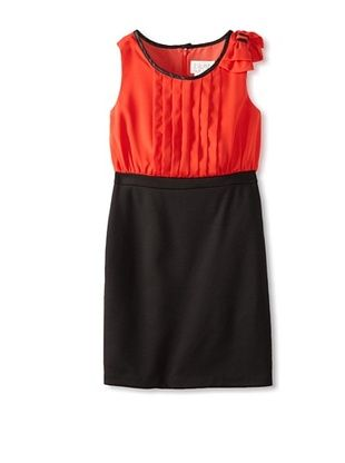 63% OFF Blush by US Angels Girl's Twofer Dress With Pleats (Persimmon)