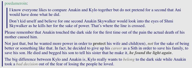 Thank you to someone for finally pointing this out! I may think Anakin's character could have been done a LOT better, but his main flaw was his love for his family.