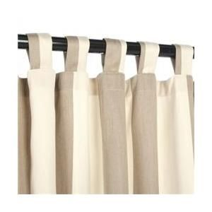 Outdoor Curtains CUR108SDS 54 inch x 108 inch Sunbrella Outdoor Curtain with Tabs - Regency Sand