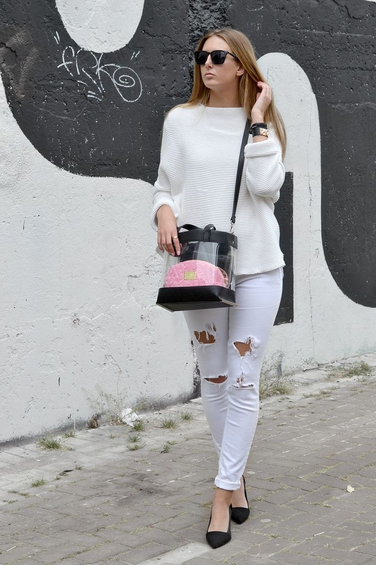 white zara sweater
