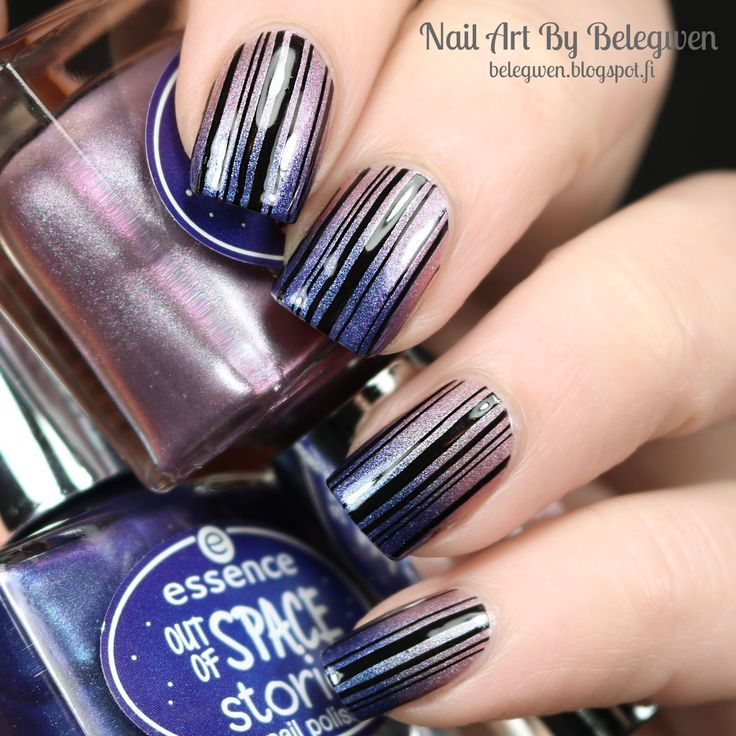 Nail Art By Belegwen: Essence Intergalactic adventure & Across the universe