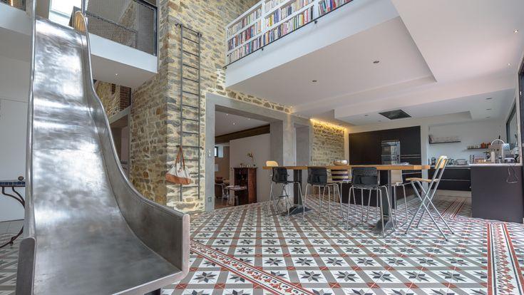 tanguy mickael architecte maison toboggan rennes 35 intervalphoto pinterest toboggan. Black Bedroom Furniture Sets. Home Design Ideas
