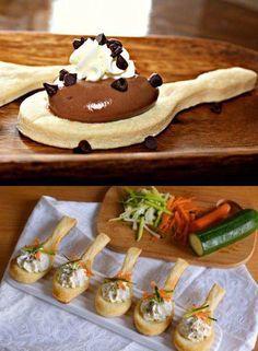 Estas Cucharas de masa Daran un Toque de Distinción a tu Fiesta. Sirven para comer y poner arriba Dulces y Salados