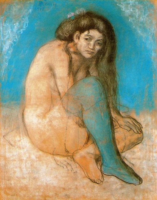 Pablo Picasso, Nude with Crossed Legs