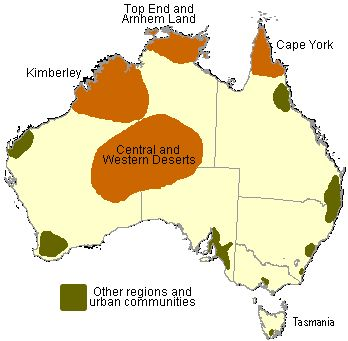 Map of Indigenous Regions and Communities
