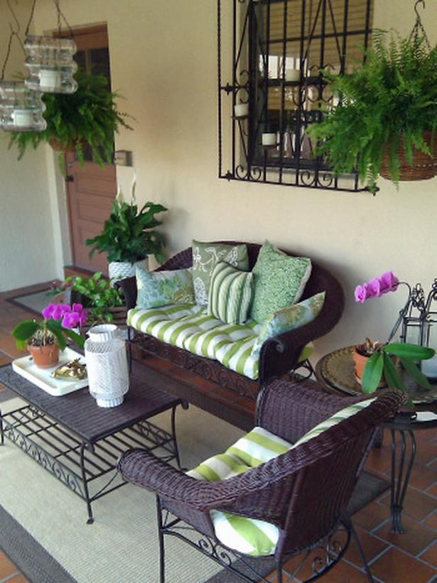 Refurbish Your Patio You may think your patio furniture is out of date and useless, but new cushions can go a long way. RMS user nyclq restored her old furniture with some paint for rattan furniture and coated the metal with a b… more