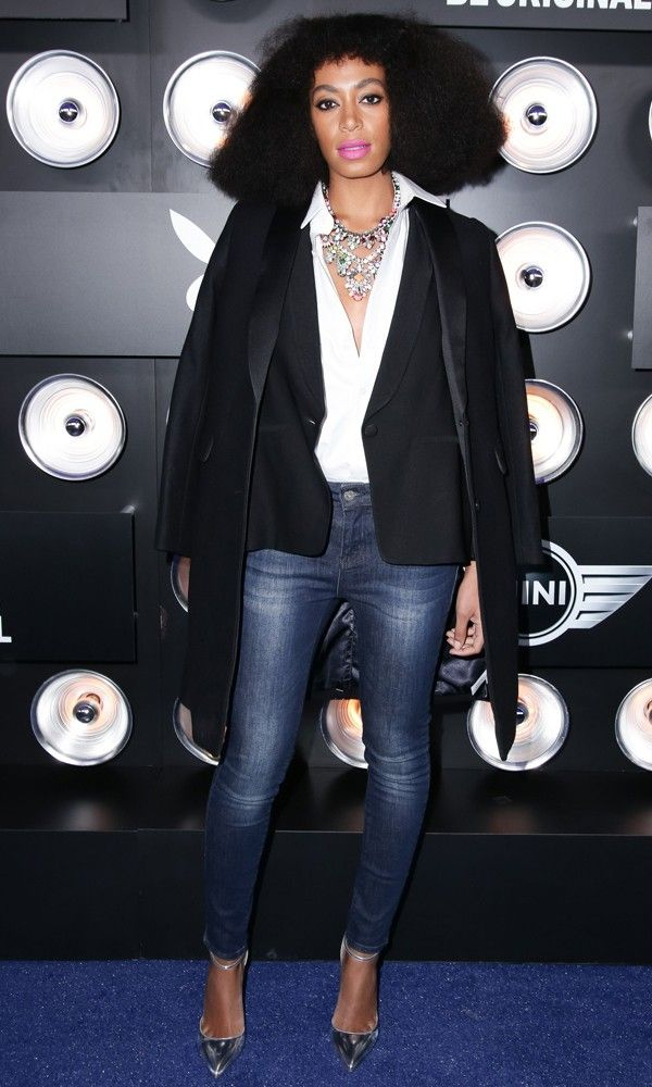Solange Knowles At The Playboy Super Bowl Party At The Bud Light Lounge, New York - Feb 2014