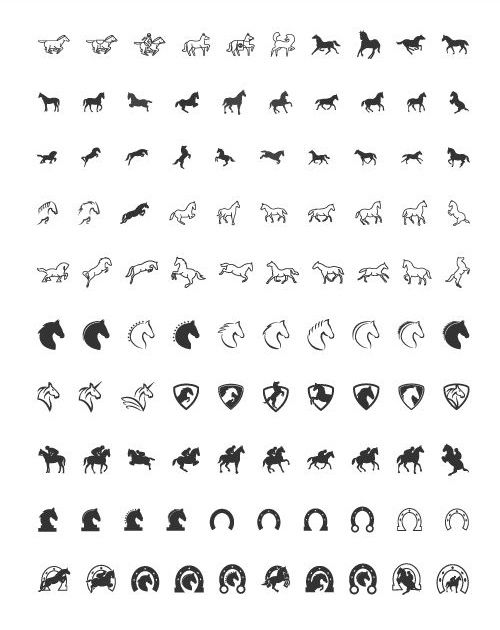Preview of all 100 Horse Icons