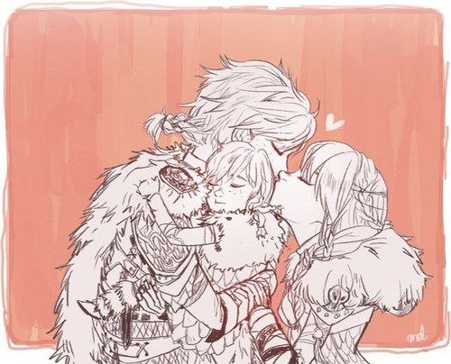 Hiccup And Astrid With Their Daughter How To Train Your