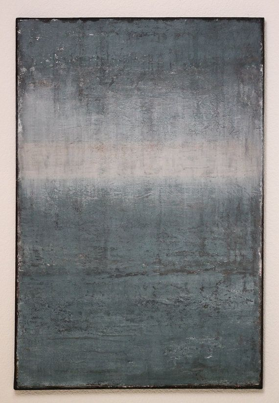 Minimalist Abstract Oceaan schilderij bitmappatroon Canvas