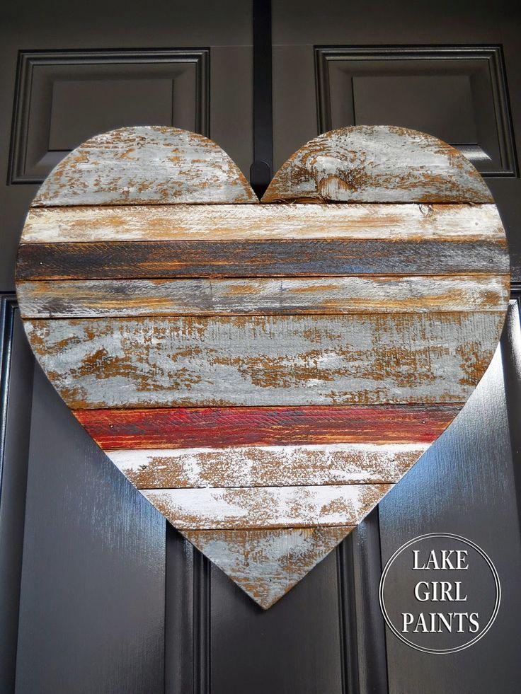 Lake Girl Paints: Wood Scrap Heart Hanging