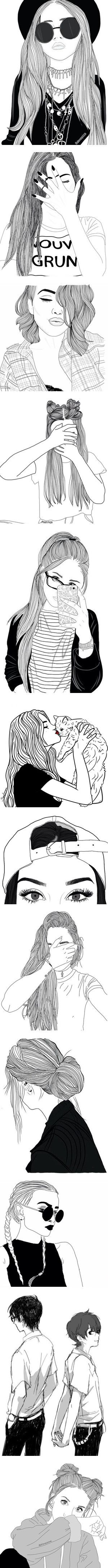 Doodle People by alicejean123 on Polyvore featuring fillers, doodle, outline, scribble, home, home decor, wall art, girls wall art, heart home decor and doodles