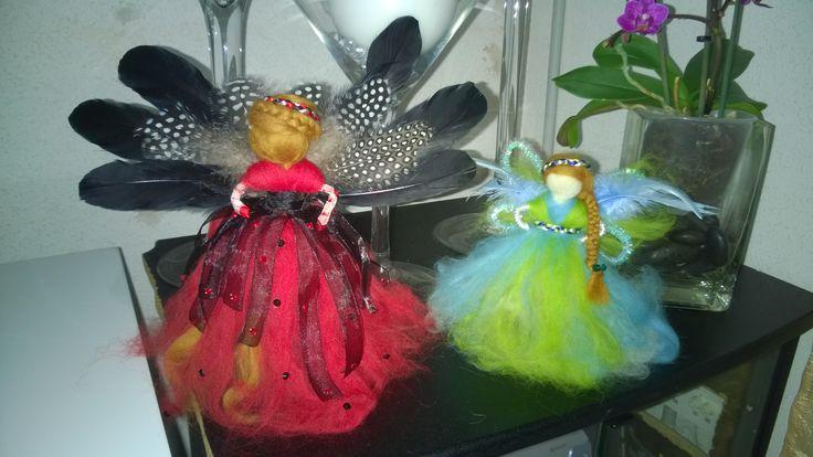 muñecas de lana fieltrada