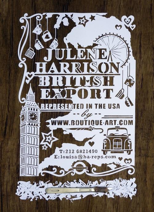 British Export by Julene Harrison #paper #art
