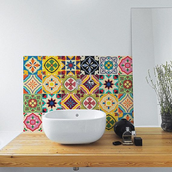Mexican Talavera Tiles  Wall  Stairs  Tile Stickers