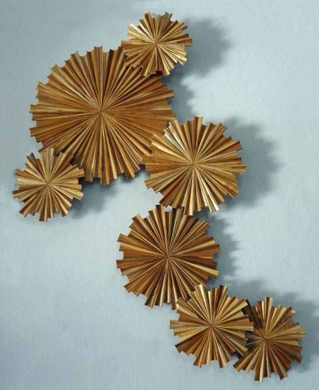 "Circular Wood Wall Art Pleasing Starburst Ii"" Contemporary Wood Wall Art Stohans Showcase Inspiration Design"